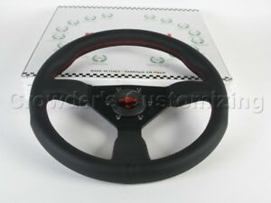 Personal Steering Wheel Grinta 330mm Black Leather W Red Stitching 6430 33 2096