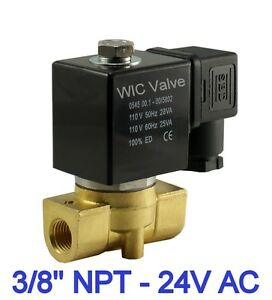 15 Pieces 3 8 Normally Closed Brass Air Water Electric Solenoid Valve 24v Ac