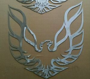 Phoenix trans Am Firebird Ws6 2ftx2ft 14 Gauge Mild Steel Wall Art outli