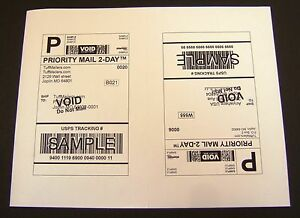 Labels 8 5x5 5 2000 Shipping Labels Half sheet Self adhesive Usps Ups Fedex