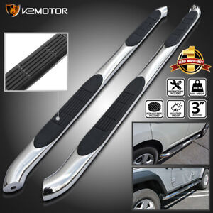 For 2007 2012 Dodge Nitro Chrome Stainless Steel Running Boards Side Step Bars