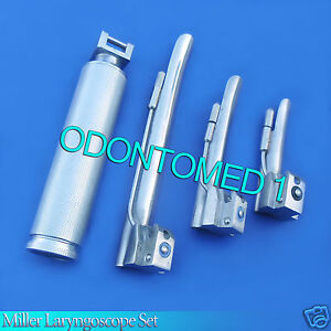 Laryngoscope Medium Handle C 3 Miller Blade 0 1 2 Ent Anesthesia Set