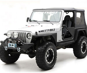 Combo 87 95 Wrangler Yj Tube Fender Flares Rock Guard Rear Corner Guard