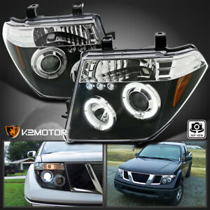 Fits 2005 2008 Frontier 2005 2007 Pathfinder Led Halo Projector Headlights Black