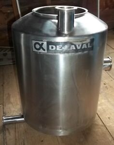 Delaval 2 Stainless Steel Receiver Can