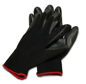 Nitrile Dipped Grey Nylon Disposable Industrial Work Gloves Select Your Sizes