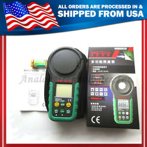 Mastech Ms6612 Digital Lux Fc Meter Multi functional Light Meter 0 2000 00lux