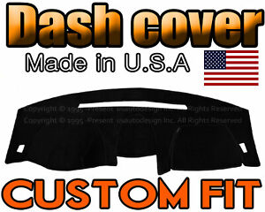 Fits 2001 2002 Dodge Stratus Coupe Dash Cover Mat Dashboard Pad Black