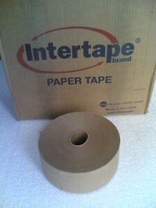Nib Box of 10 600ft Rolls Of Water activate Cardboard Box Sealing Paper Tapes