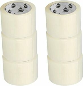 24 Rolls 3 Wide Packing Tape Box Sealing Clear Shipping 2 Mil 3 Inch X 110 Yard