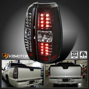 For 2007 2012 Chevy Avalanche Black Led Tail Lights Brake Signal Lamp Left Right