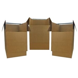 Wardrobe Moving Boxes Shorty Space Savers 3 Pk 20x20x34 W Bars