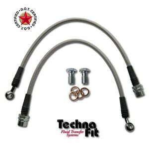 Front Techna Fit Stainless Steel Braided Brake Lines Set Must 1100frt