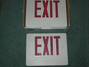 Nicor Lighting Led Emergency Exit Sign 18200rwr Remote Double Sided Fixture Red