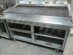 used Bakers Pride F 60gs Char Grill Charbroiler Floor Model Natural Gas