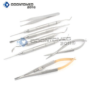 7 Micro Surgery Instruments Set Dental Surgical Medical Ds 1146