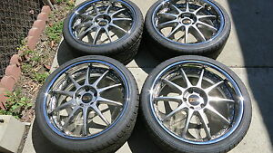 Jdm Blitz Technospeed Z1 19 Rims With New Nitto