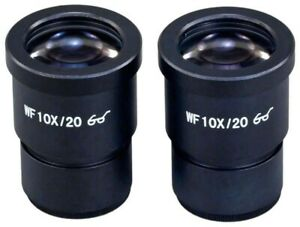 Two Wf10x 20 High Eye point Widefield Eyepieces 30mm For Stereo Microscopes