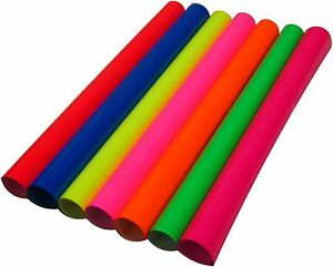 New Coral Fluorescent Siser Heat Press Transfer Vinyl 7rolls 15 x One Yard Each