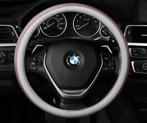 Pink White Steering Wheel Cover Cute Fashion Protector