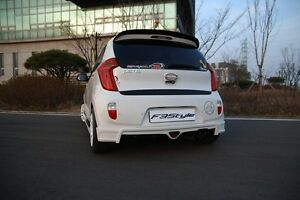 F3style Rear Tuning Unpainted Parts For Kia Picanto 2011 2015