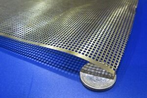 Brass Perforated Extra Thin Sheet 016 Thick X 24 X Per Ft 079 Hole Dia