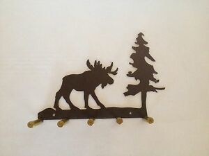 Moose Key Holder With Bullet Casings Made In USA Real Steel!