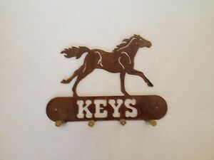 Running Horse Key Holder With Bullet Casings Made In USA Real Steel!