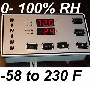 Humidity Temperature Controller 2 Relay Output15 Amp Alarm Output 3 Amp