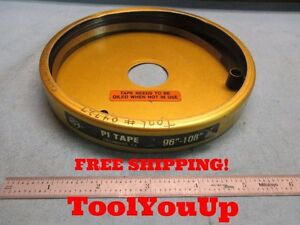 96 To 108 Periphery Pi Tape Measure Usa Made Machinist Tooling Industrial Shop
