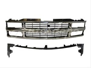 For 1994 1999 Suburban Tahoe Composite Grille Front Bumper Filler Panel 4pcs