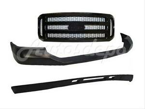 For 2005 2007 Ford Super Duty Front Bumper Up Pad Valance Grille Blk Honeycomb