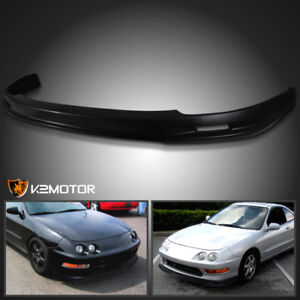 98 01 Acura Integra Replacement Jdm Black Mu Style Abs Front Bumper Lip Spoiler