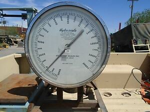 Hydroscale industrial Scale 20000lb Hanging Hook Dial Scale