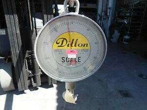 DILLON SCALE 500Lb Hanging Hook Dial Scale $399.00