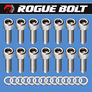 Amc Jeep V8 Valve Cover Bolts Stainless Steel Kit 290 304 343 360 390 401