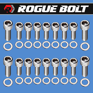 Sbc Oil Pan Bolts Stainless Steel Kit Small Block Chevy 283 327 350 383 400