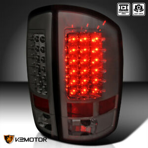 2002 2006 Dodge Ram 1500 2500 3500 Led Tail Lights Lamps Smoke Left right