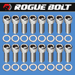 Ford Fe Header Bolts Stainless Steel Kit 352 360 390 406 427 428 Engines