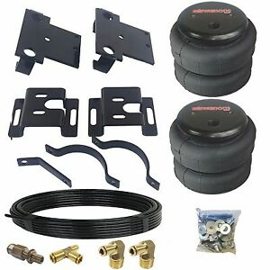 No Drill Tow Assist Over Load Bag Air Suspension Kit For 01 10 Chevy 2500 Truck