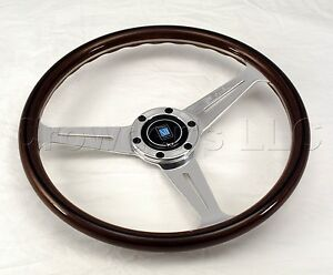 Nardi Classic Wood Steering Wheel 360mm Polished Spokes Screws At Sight