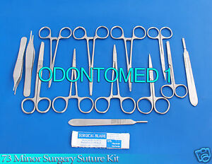 73 Ea Or Grade Minor Surgery Laceration Suture Kit Set Surgical Instrum Ds 850