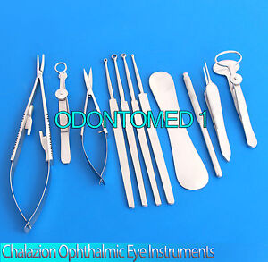 Chalazion Ophthalmic Eye Instruments Cataract Surgery Set 12 Pcs