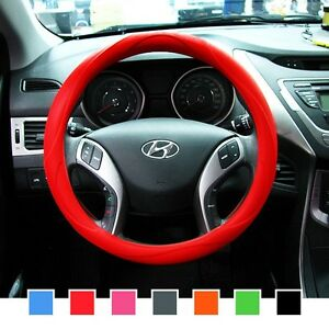 Gauss Premium Silicone Car Steering Wheel Cover Red One Size Fits All