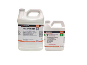 Thick 4 1 Two Part Thick Epoxy Resin System Kit 1 25 Gallons