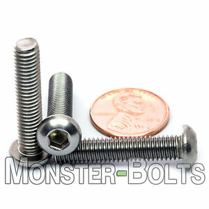 M6 X 30mm Qty 10 A2 Stainless Steel Button Head Socket Cap Screws Iso 7380