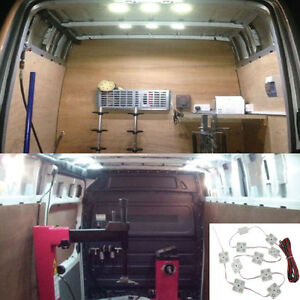 40 Led White Interior Lights Kit For Lwb Van Trailer Lorries Sprinter Ducato Vw