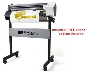 Roland Gs 24 Vinyl Cutter W Free Stand Cut Sign Vinyl Heat Transfer Vinyl