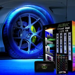 Opt7 All Color Wheel Well Led Light Kit 4pc Custom Accent Neon Strips Rim Tire