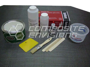 Carbon Fiber Part Wrapping Kit W Clear Epoxy 2x2 Twill Weave Large Kit